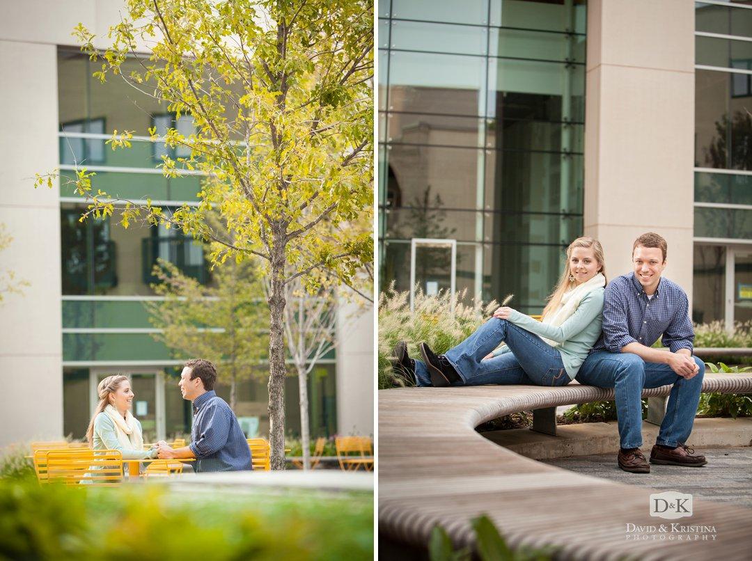 One Main Plaza engagement photos