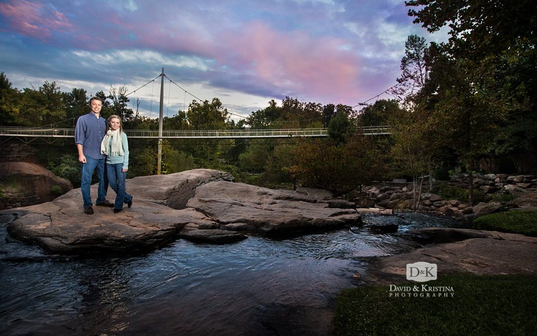 Downtown Greenville Engagement Photos | Andrew & Clara