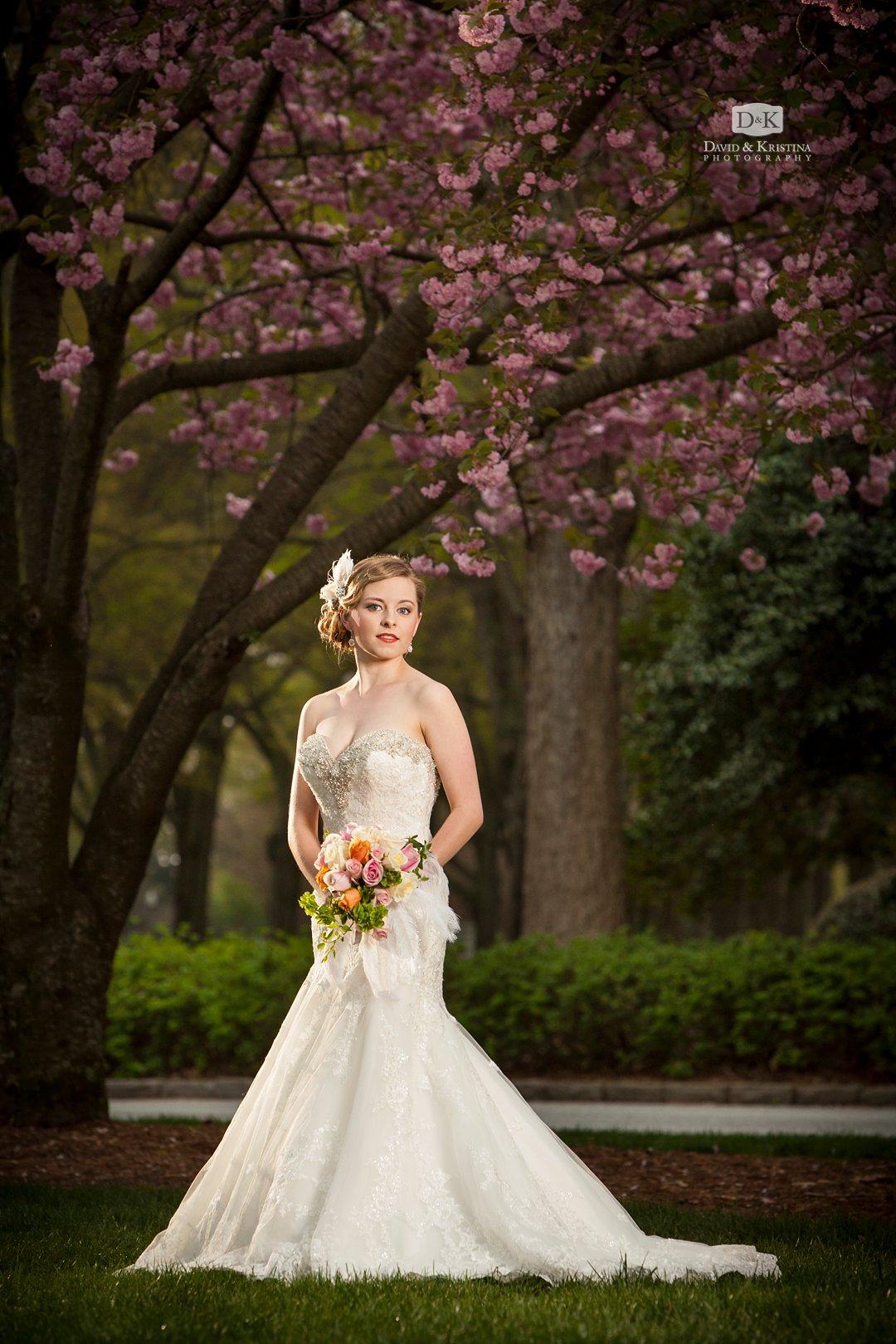 Furman bridal portrait in the Spring