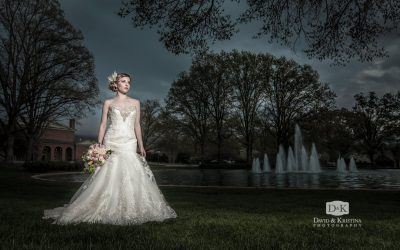 Furman Bridal Portrait Session in the Rain | Clara Clark