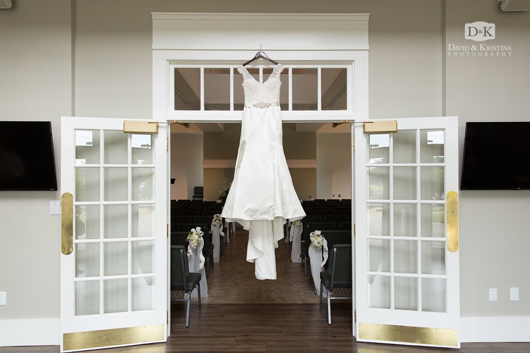 wedding dress at Christ Community Church
