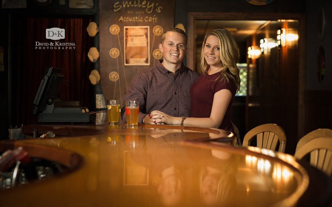Engagement Photos at Smiley's Acoustic Café | Tyler & Corie