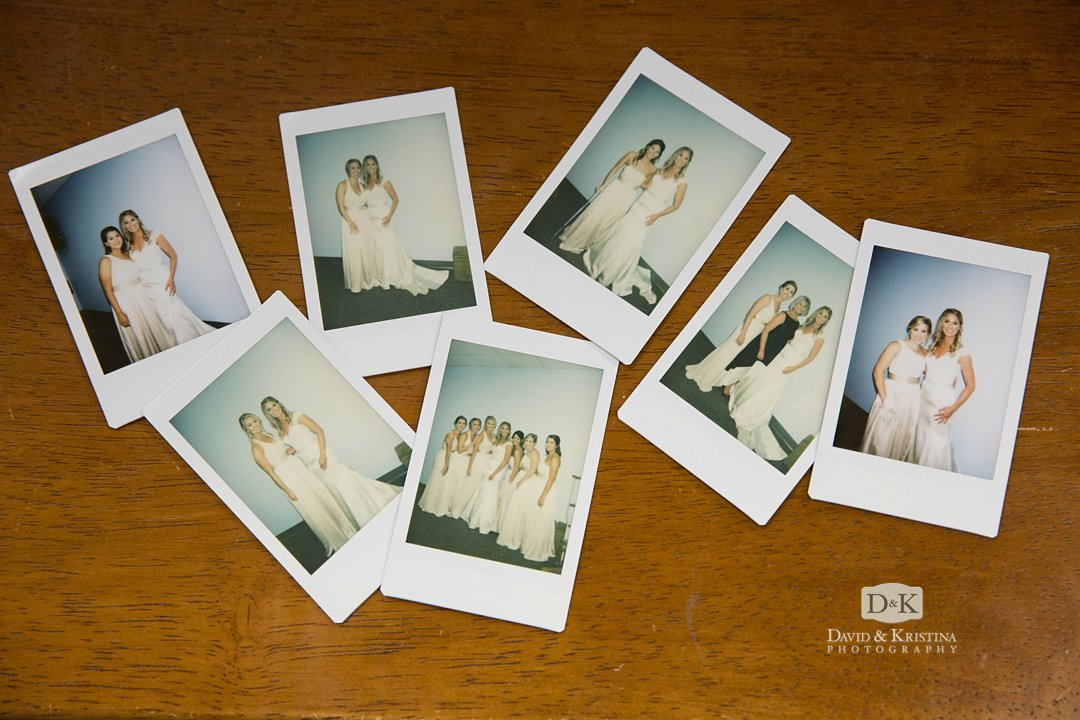 instant print film polaroid for wedding photos of bridesmaids