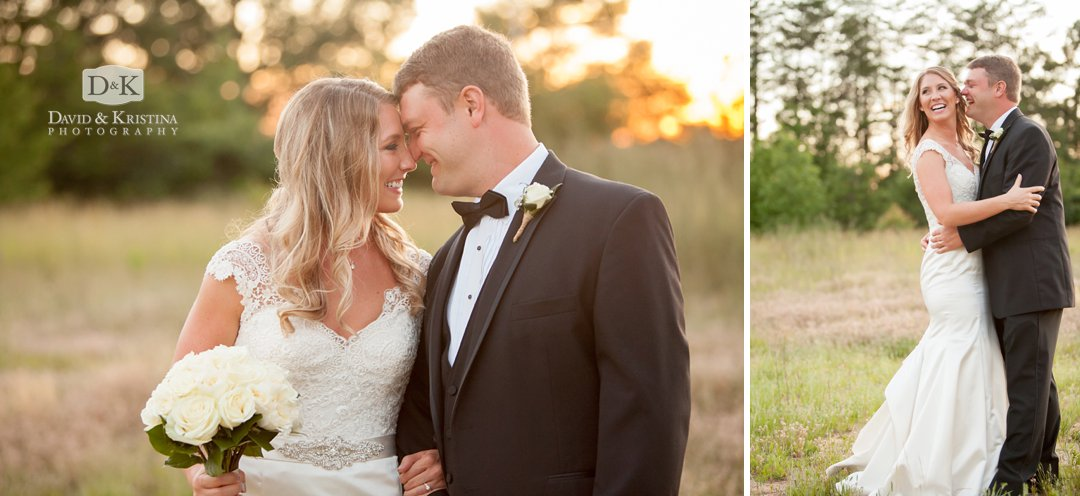 sunset wedding photos in Greenville SC at Twigs Tempietto