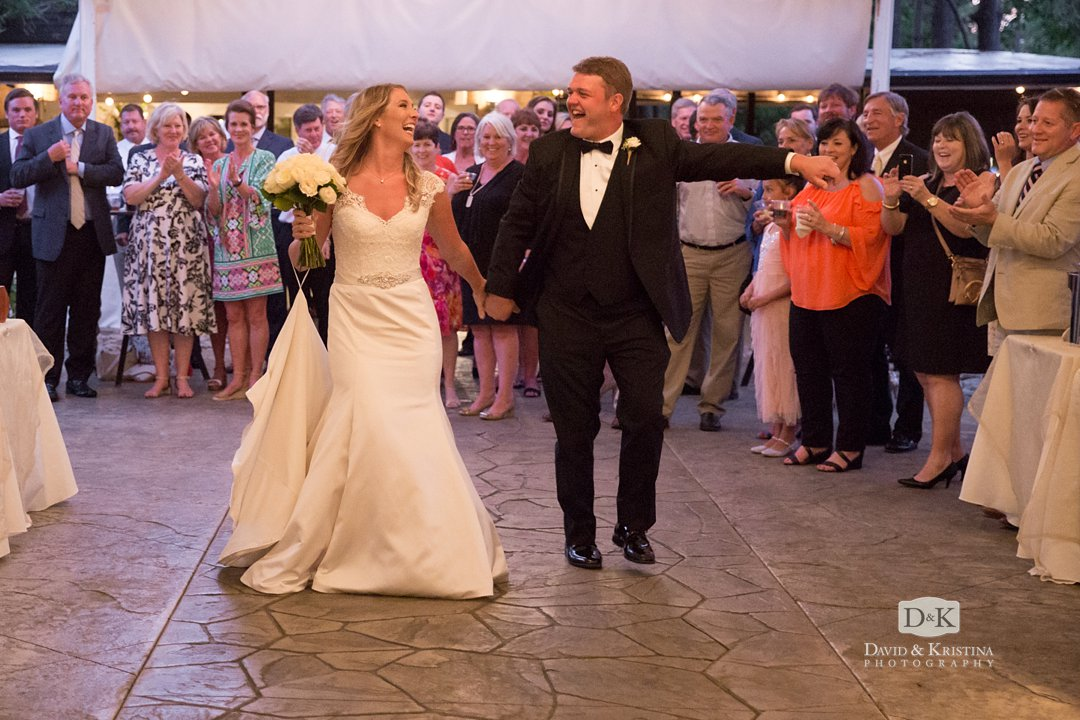 Eric and Chancie introduced at wedding reception
