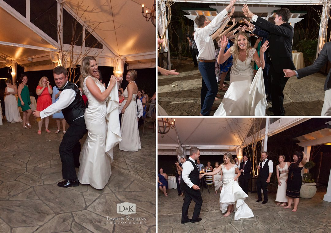 Pros Only DJ dancing at Twigs Tempietto Wedding