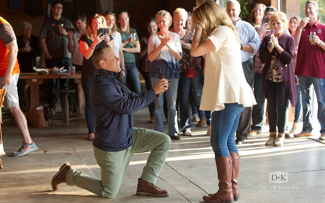 Surprise Proposal at Birds Fly South | Tyler & Corie