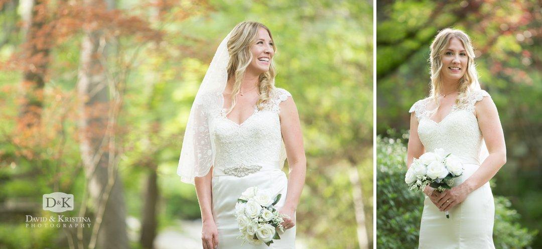 candid photos during bridal portrait