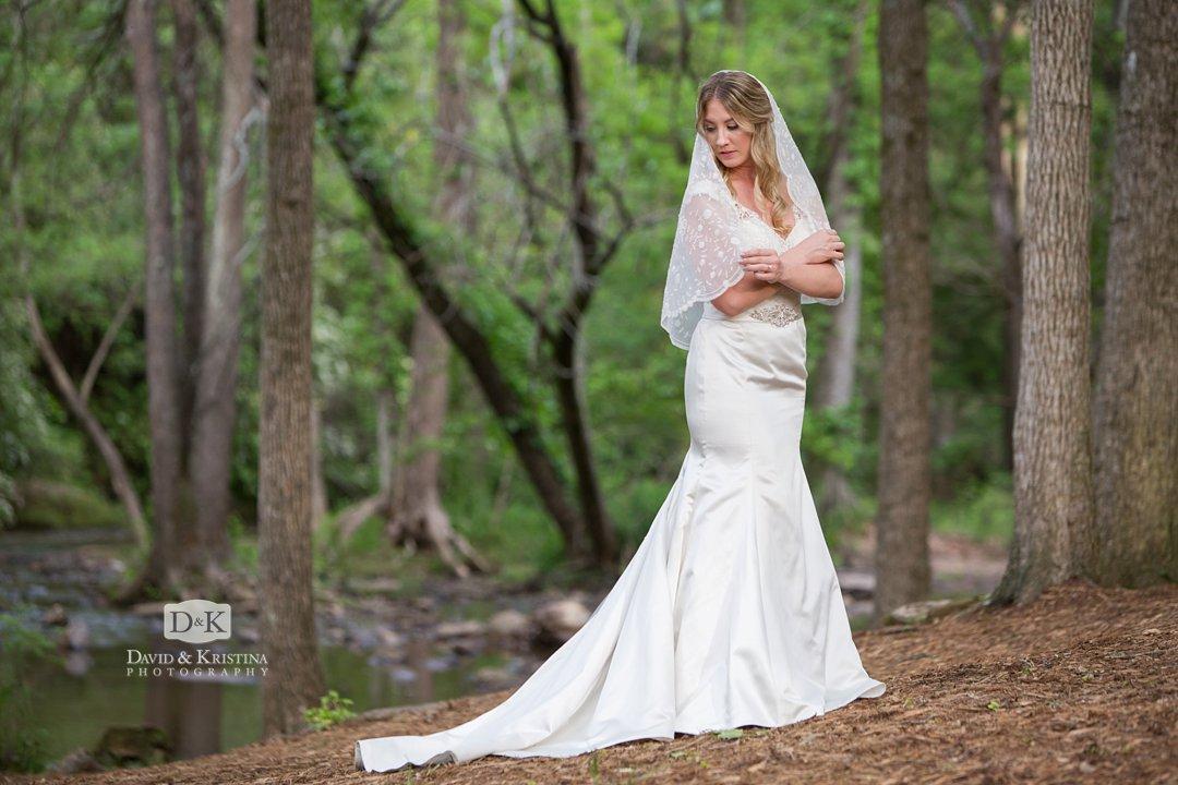 Old Mill Garden Falls Park Bridal Portrait