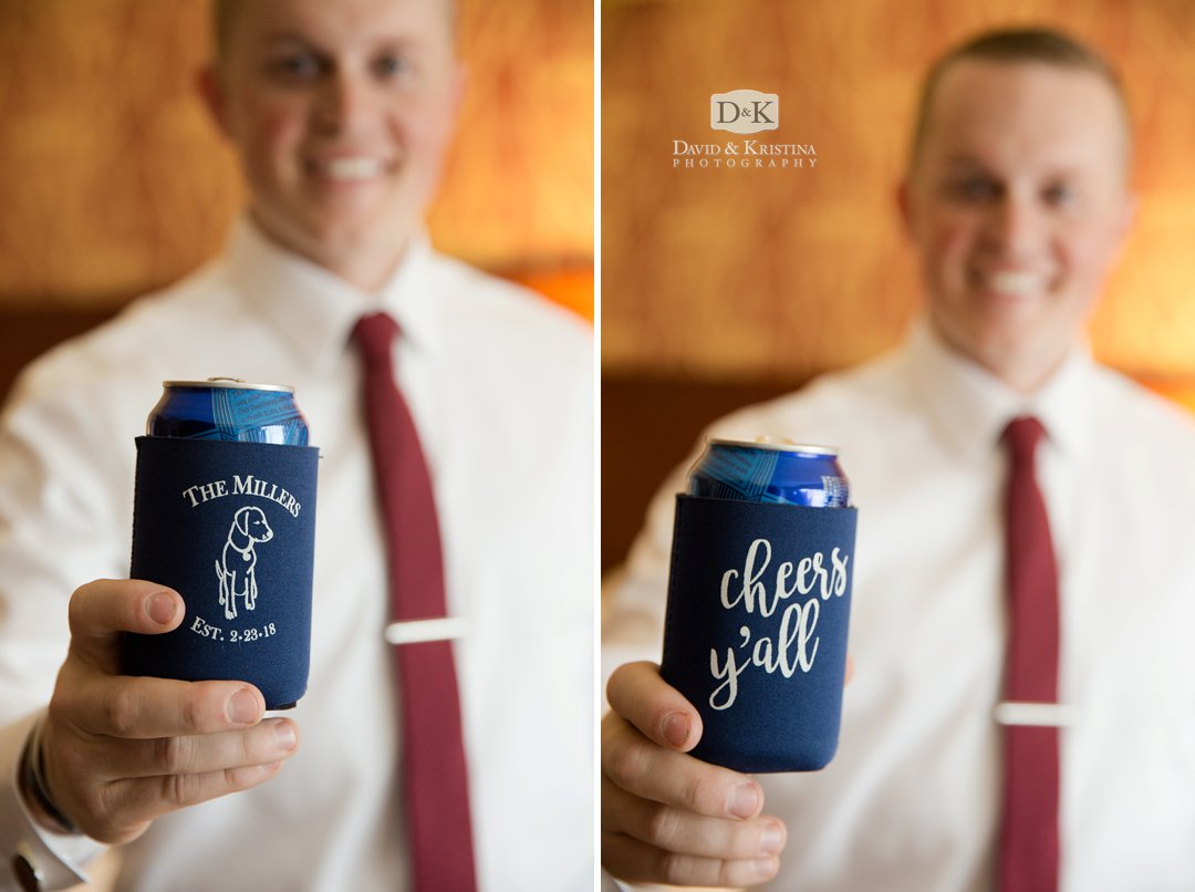 personalized wedding koozies