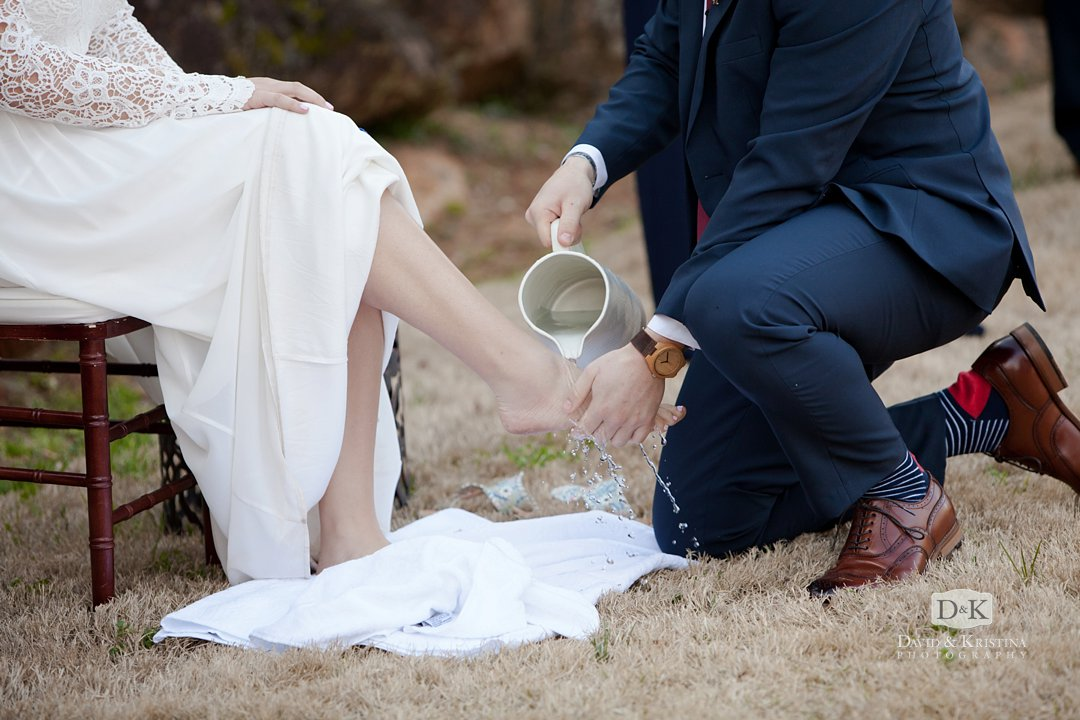 wedding foot washing ceremony