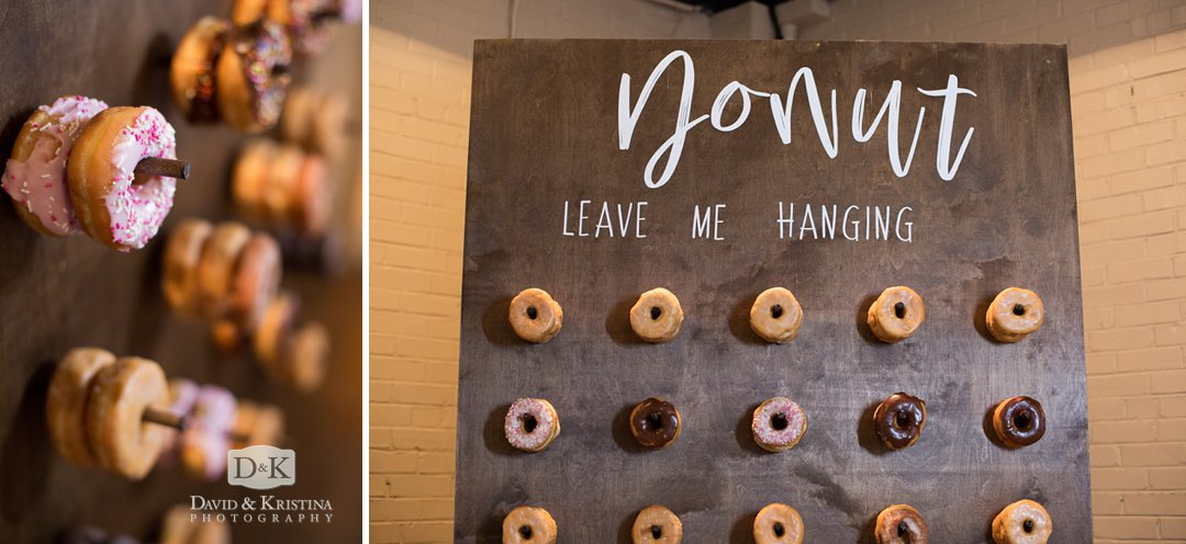 Donut Leave Me Hanging Doughnut display for wedding by Gather Upstate