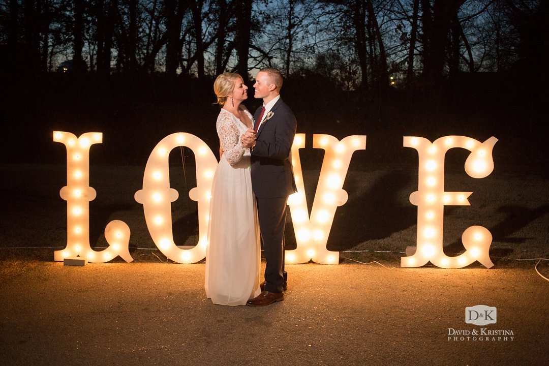 Lighted LOVE sign by Gather Upstate