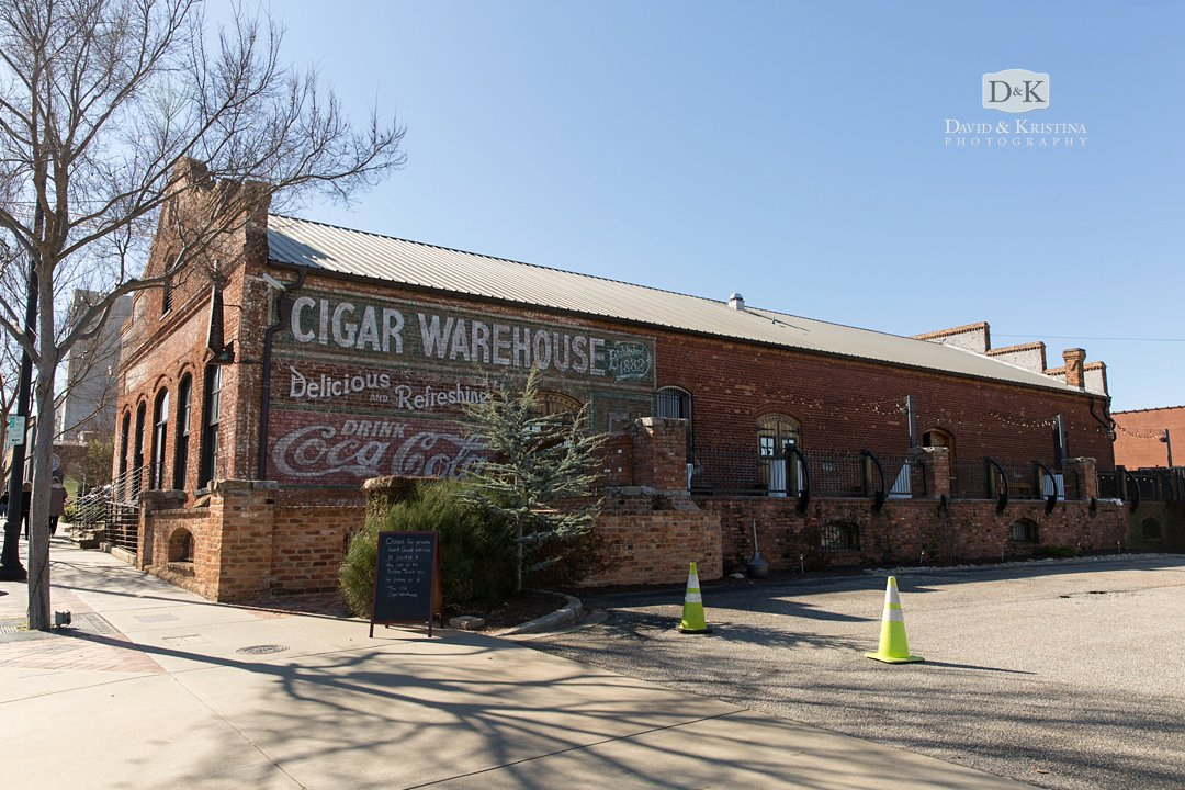 The Old Cigar Warehouse Greenville SC wedding and event venue