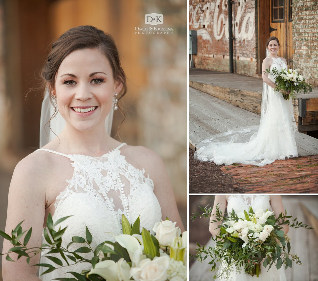 Bride at Old Cigar Warehouse wedding venue