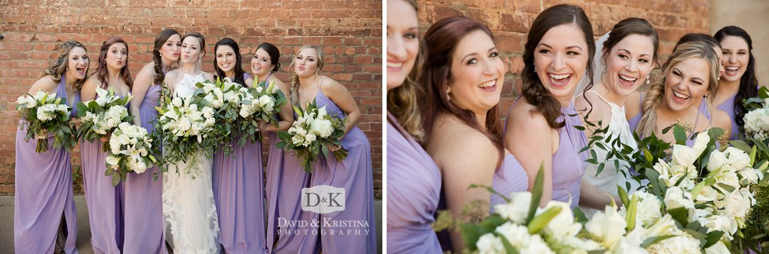 bridesmaids in periwinkle dresses