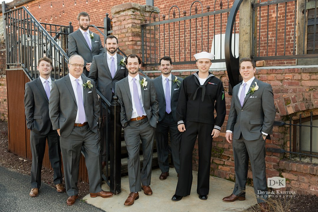 Groomsmen at Old Cigar Warehouse deck