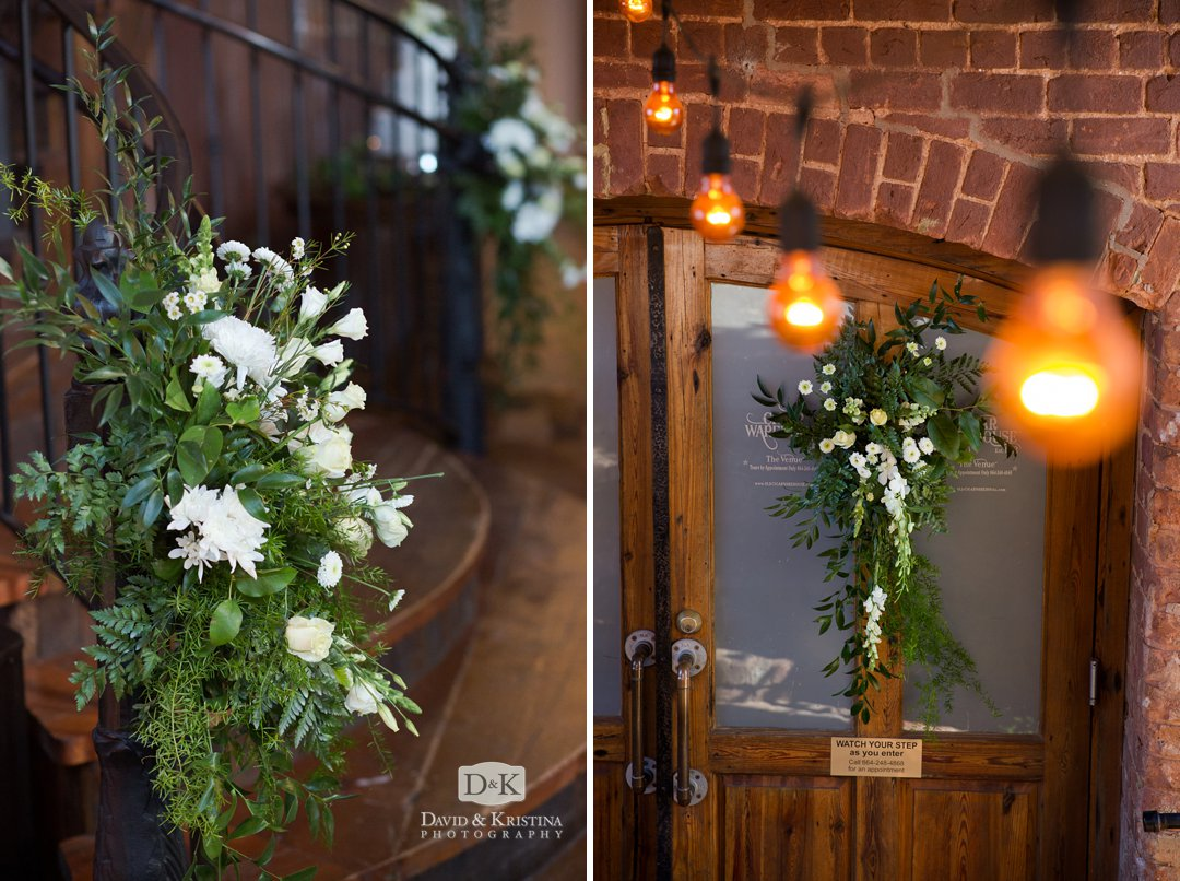 Floral arrangements by Greg Foster