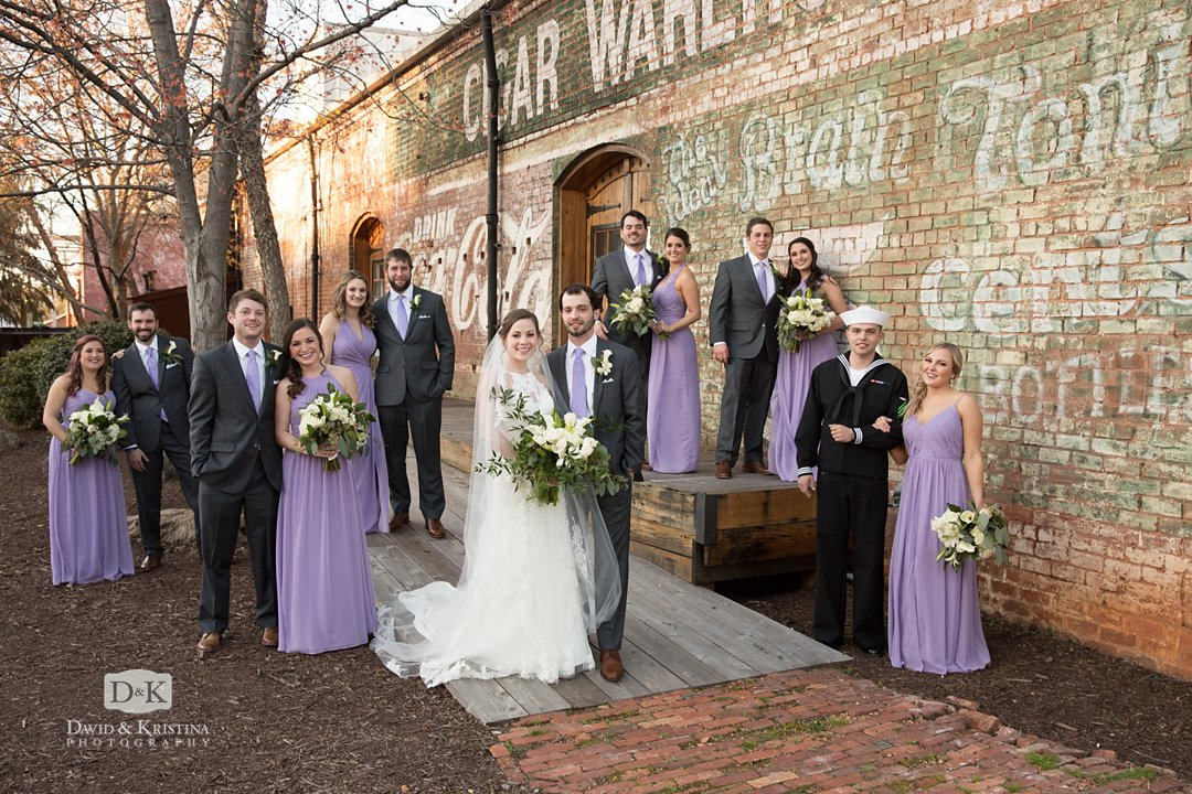 wedding party at Old Cigar Warehouse