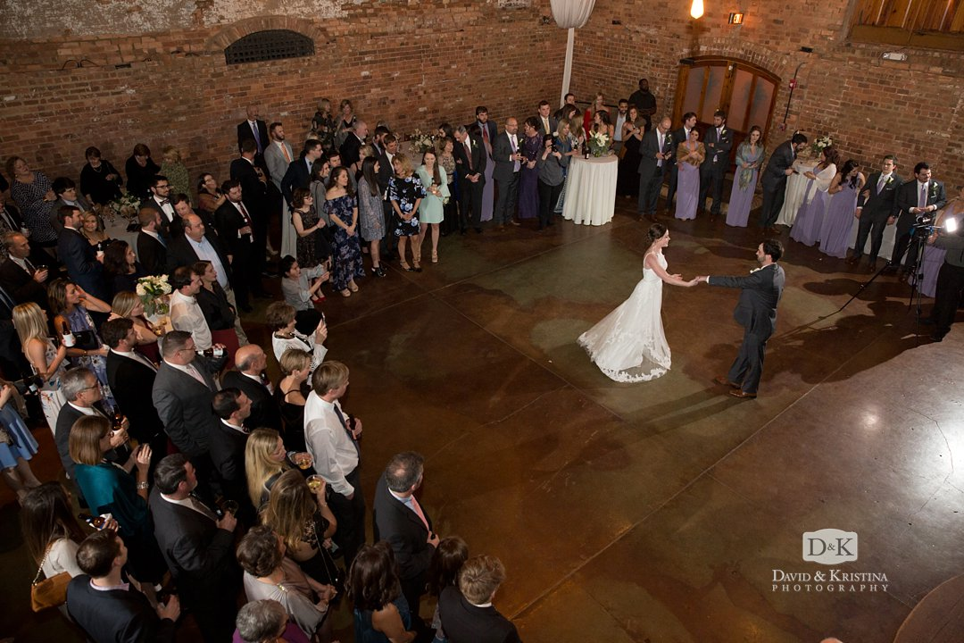 Michael and Virginia's first dance at The Old Cigar Warehouse
