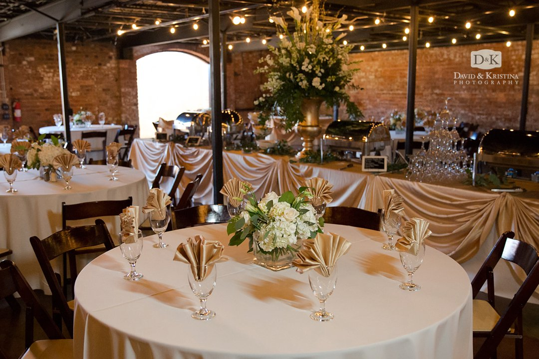 Old Cigar Warehouse wedding dinner catered by Laurenda's