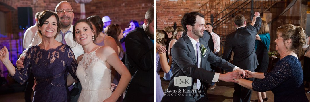 dancing at Old Cigar Warehouse wedding reception