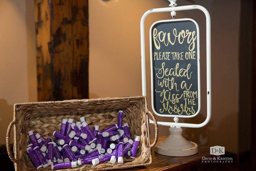 lip balm as wedding favors