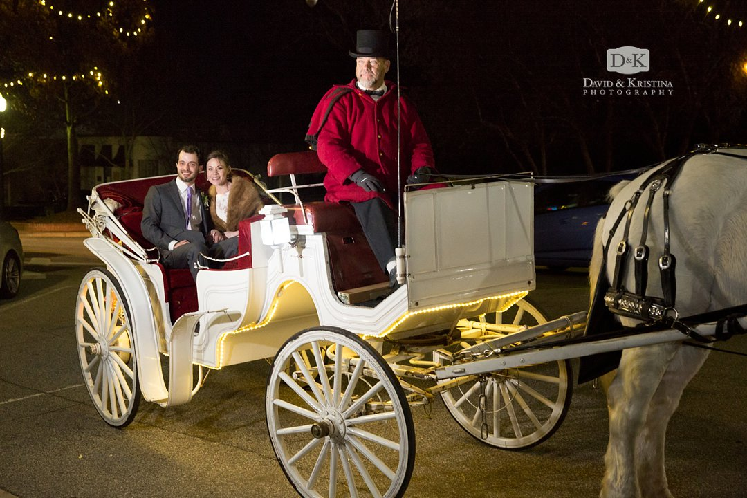 Whispering Winds Carriage horse and carriage coach service for wedding