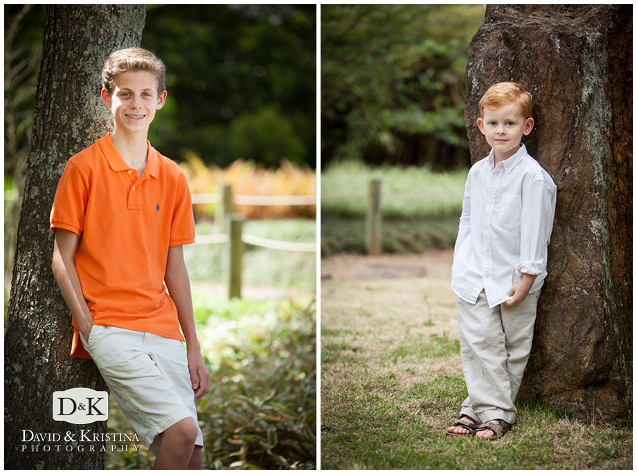 individual shots of kids during family portrait session