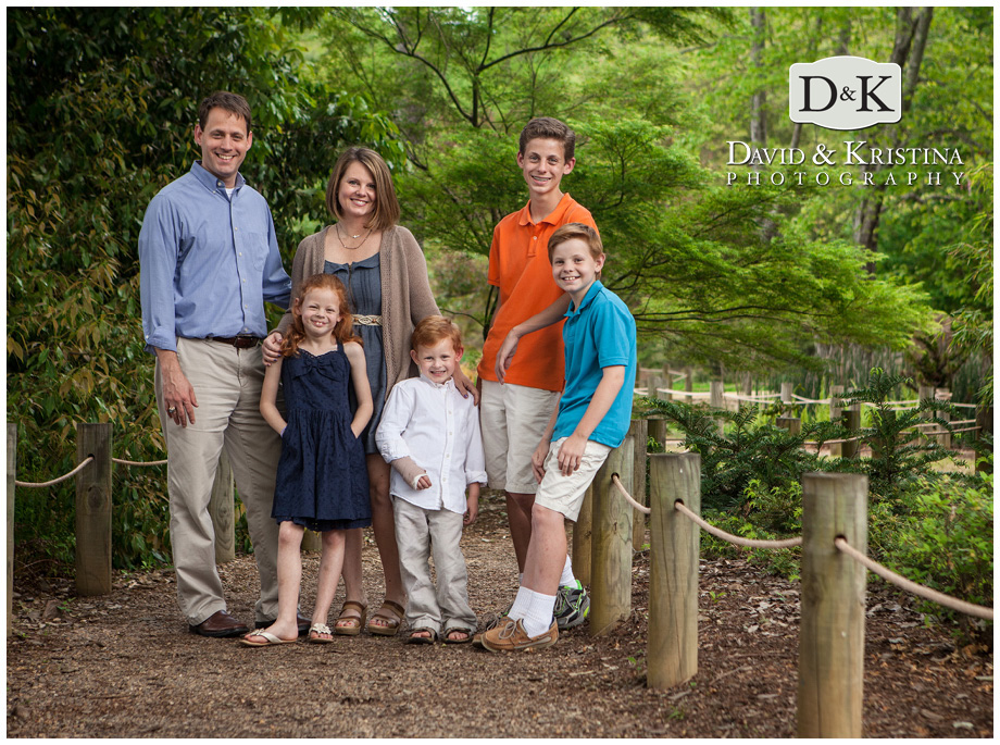 this garden at Furman near the lake was the perfect spot for family photos