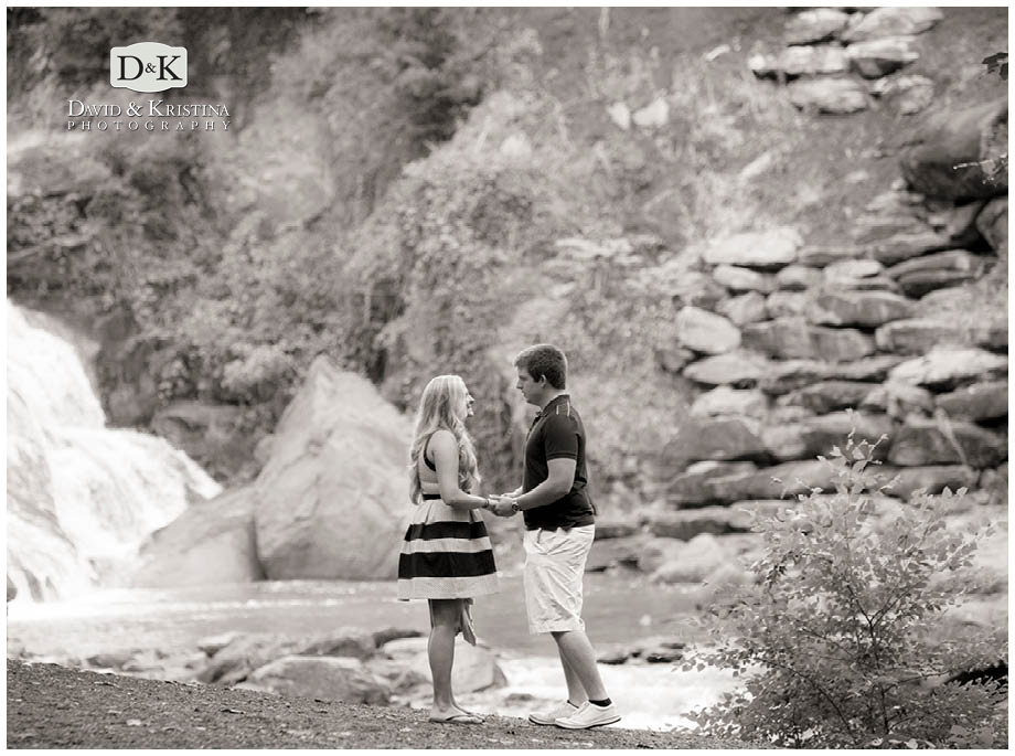 Adam takes Lauren to the Reedy River Falls to propose