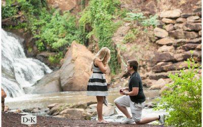Surprise Proposal in Falls Park