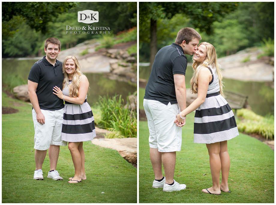 Adam and Lauren engaged in Falls Park