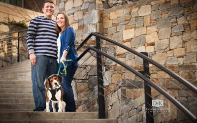Engagement photos with a dog | David & Melissa