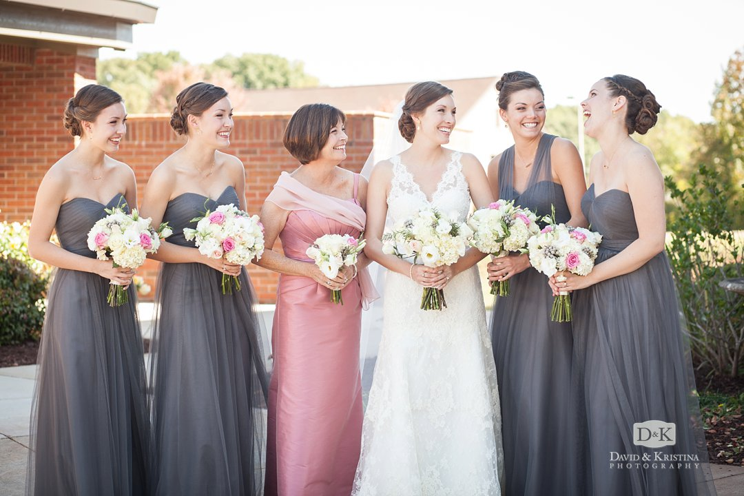 bridesmaids and mother of bride
