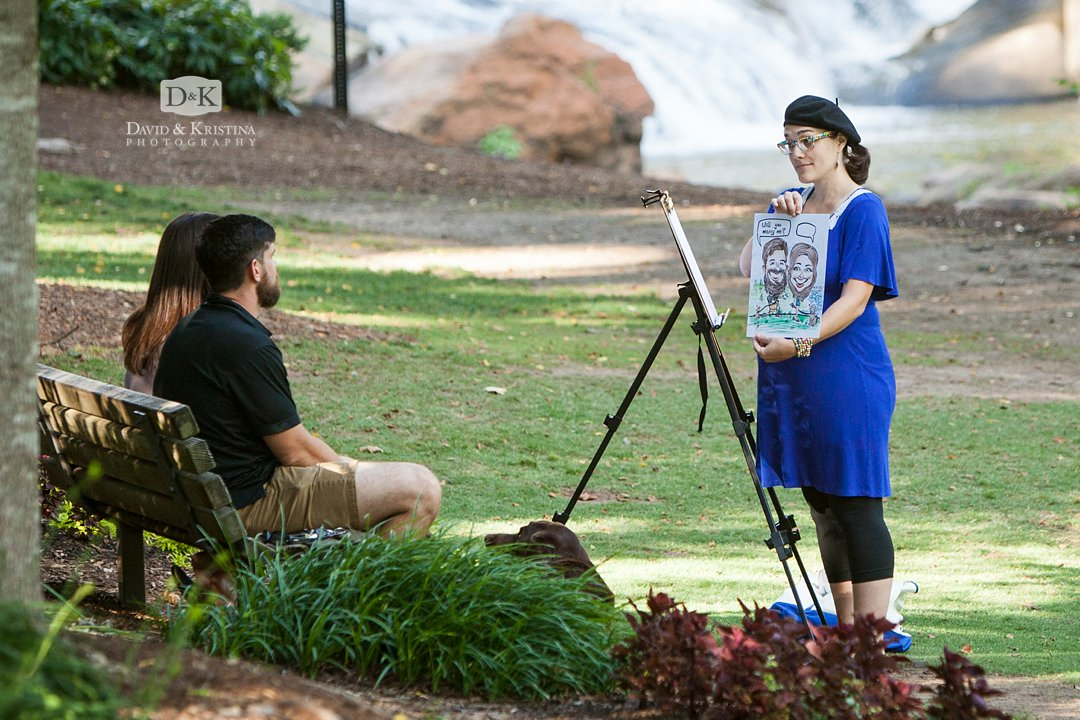 proposal with caricature cartoon drawing
