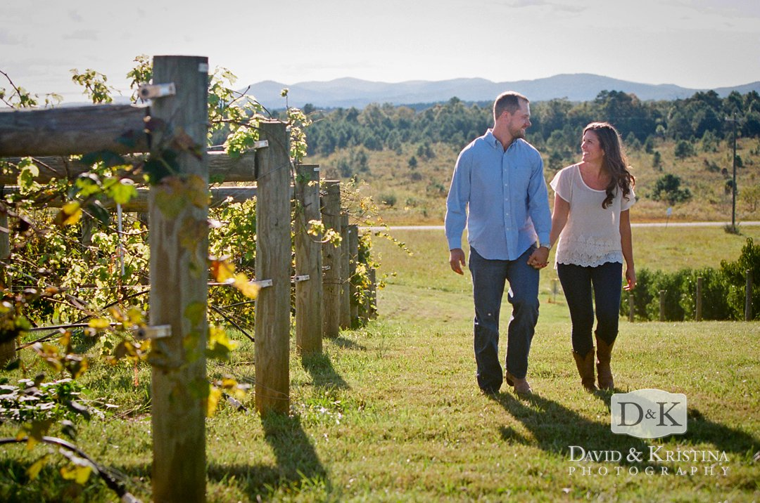 engagement photo on film